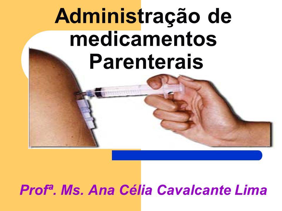 Administração de medicamentos Parenterais Profª. Ms. Ana Célia Cavalcante Lima