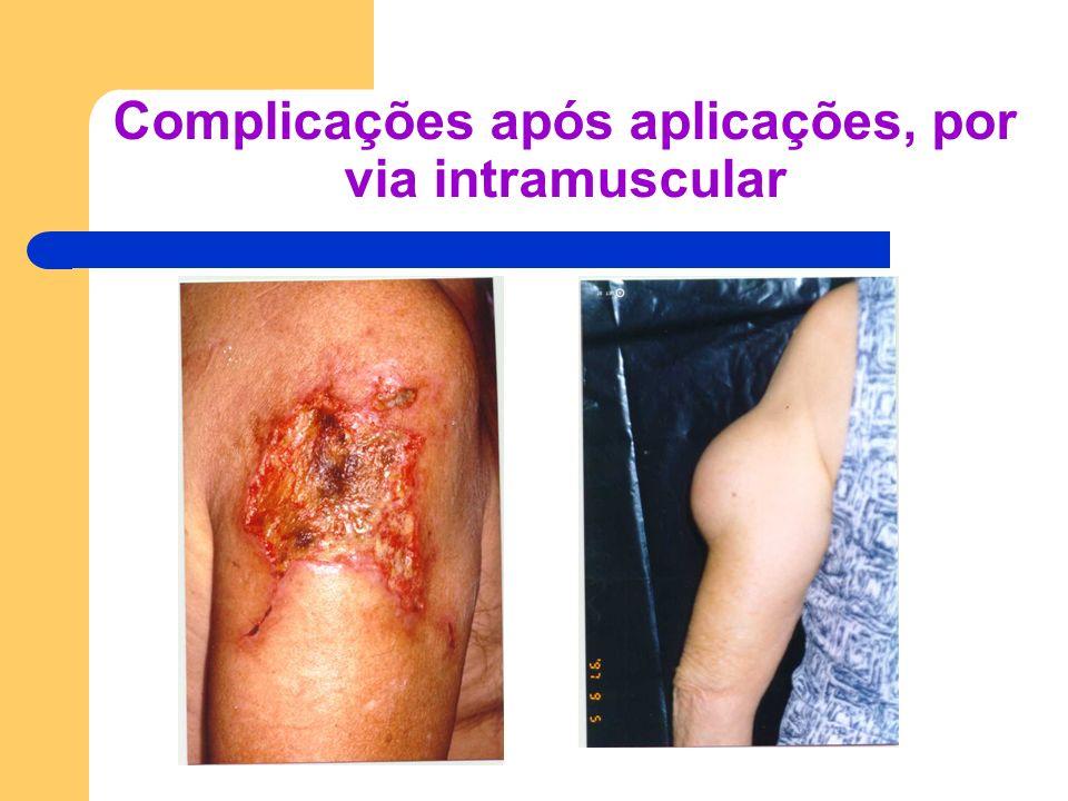 Complicações após aplicações, por via intramuscular