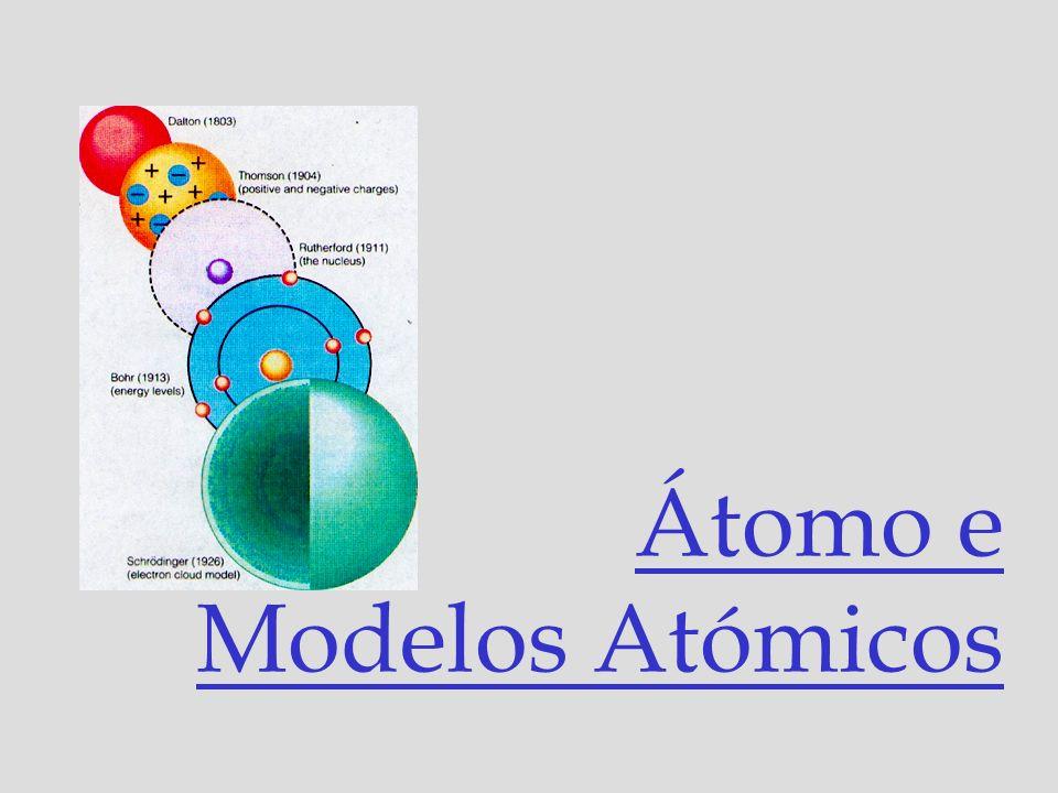 Átomo e Modelos Atómicos