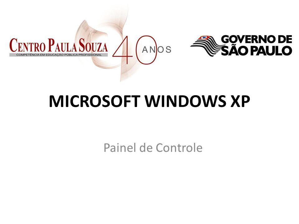 MICROSOFT WINDOWS XP Painel de Controle