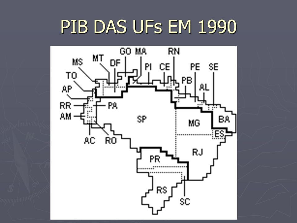 PIB DAS UFs EM 1990