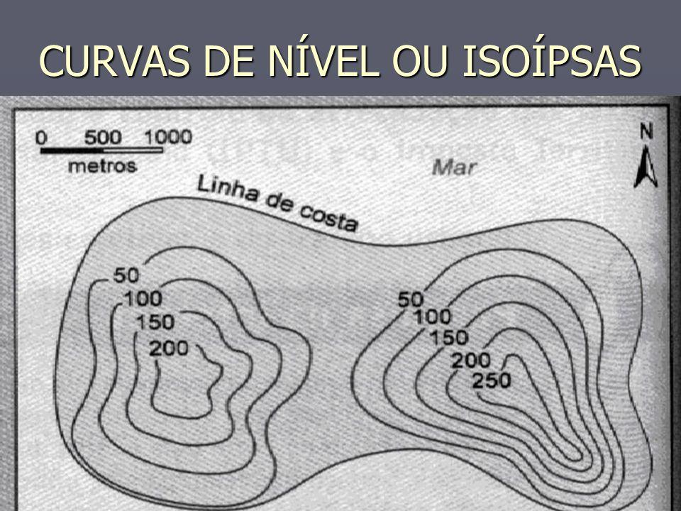 CURVAS DE NÍVEL OU ISOÍPSAS