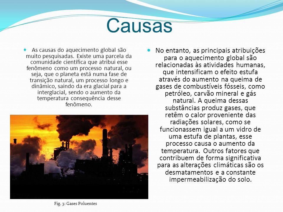 Causas As causas do aquecimento global são muito pesquisadas.