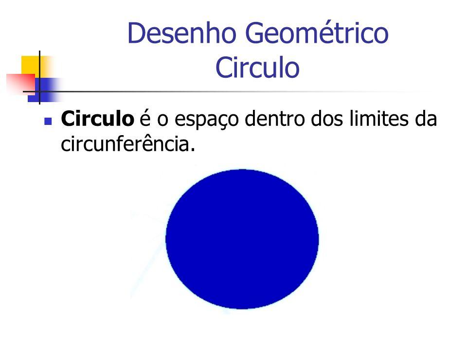 Desenho Geométrico Circulo Circulo é o espaço dentro dos limites da circunferência.