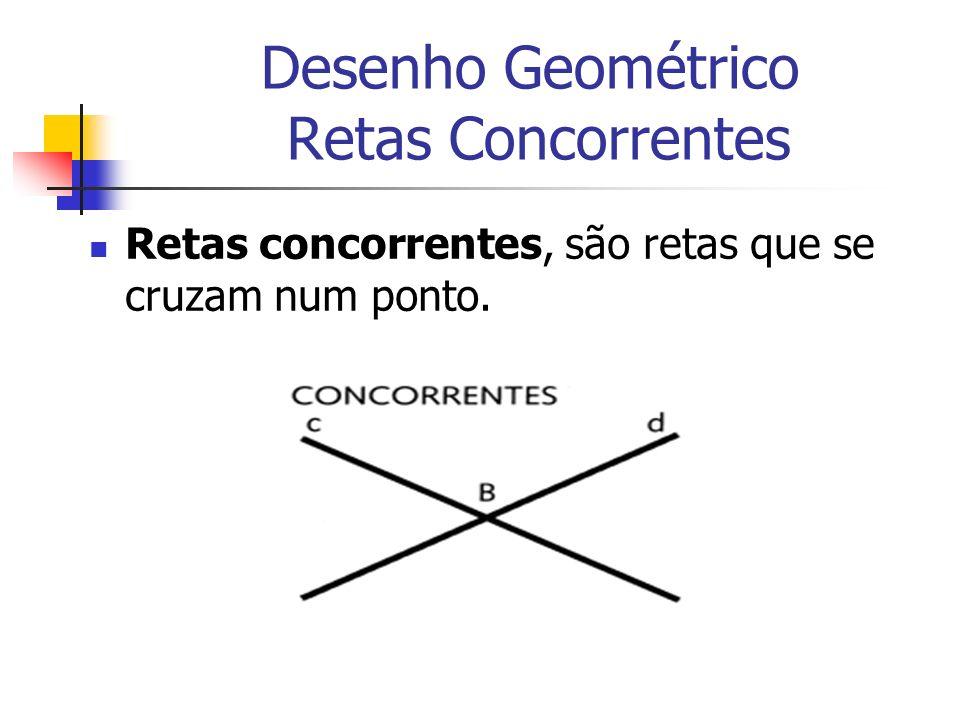 Desenho Geométrico Retas Concorrentes Retas concorrentes, são retas que se cruzam num ponto.