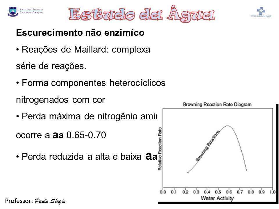 Professor: Paulo Sérgio Química de Alimentos 2009-2 Professor: Paulo Sérgio Química de Alimentos 2009-2 Escurecimento não enzimíco Reações de Maillard