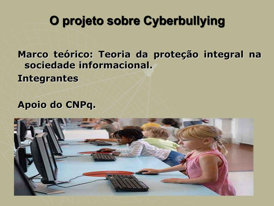 O projeto sobre Cyberbullying Marco teórico: Teoria da proteção integral na sociedade informacional. Integrantes Apoio do CNPq.