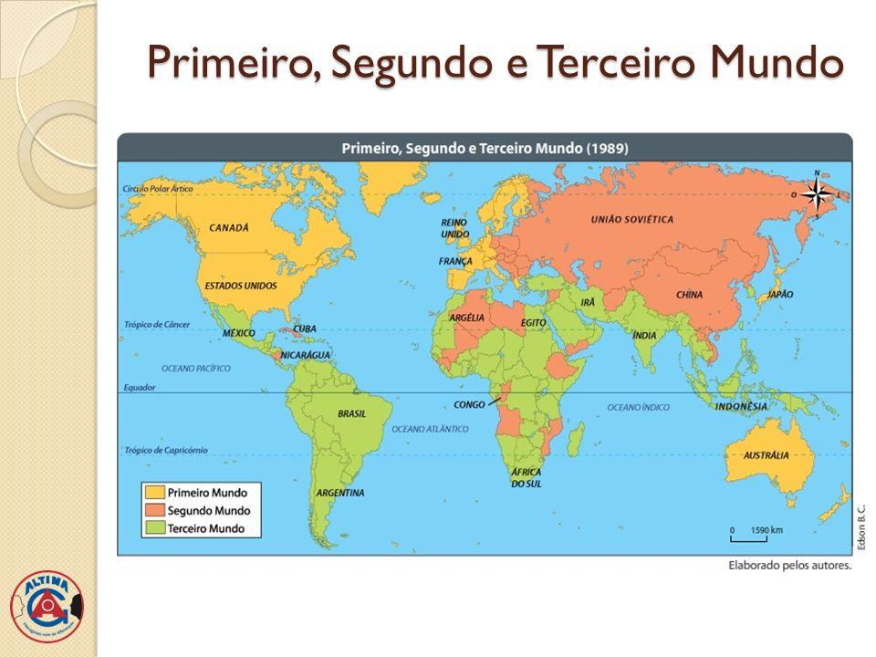 Países centrais e Países periféricos Critério de regionalização: agrupa os países de acordo com o grau de dependência ou influência que exercem no cenário internacional.