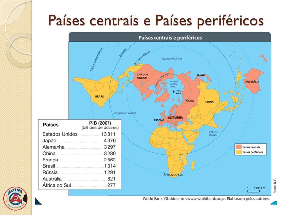 Desenvolvidos e Subdesenvolvidos Critério de regionalização: a ONU(Organização das Nações Unidas) regionaliza os países conforme o nível de desenvolvimento, levando em consideração vários indicadores econômicos e sociais.