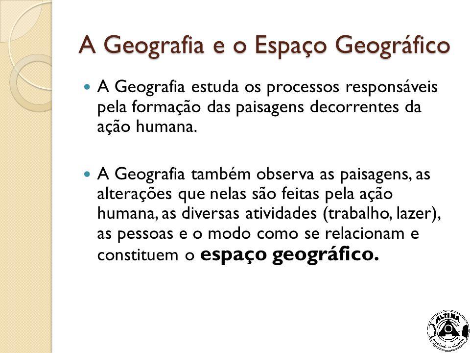 As respostas a essas questões podem ser fornecidas pela Geografia, que estuda, entre outras coisas, os processos responsáveis pela formação das paisagens.