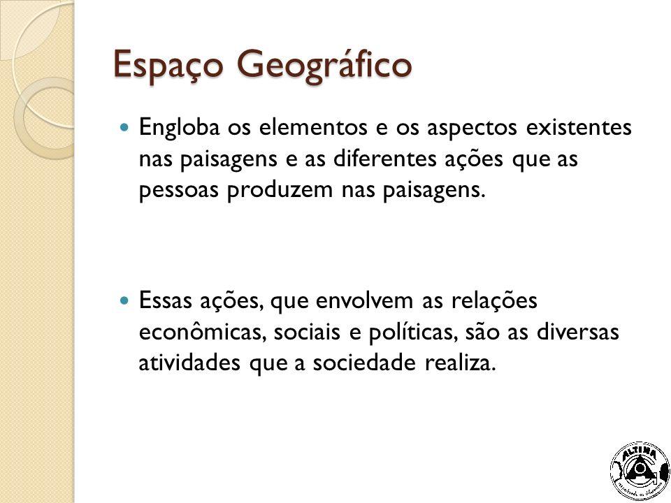 Outros conceitos de Espaço Geográfico espaço geográfico é a união dos elementos físicos e culturais da paisagem Prof.