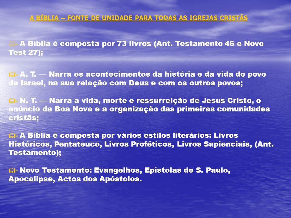 IGREJAS CRISTÃS - Semelhanças e diferenças FÉ MEIOS DE SALVAÇÃO AUTORIDADECULTOSACRAMENTOS Católicos:. Bíblia. Tradição Apostólica. Fé. Obras. Sacrame