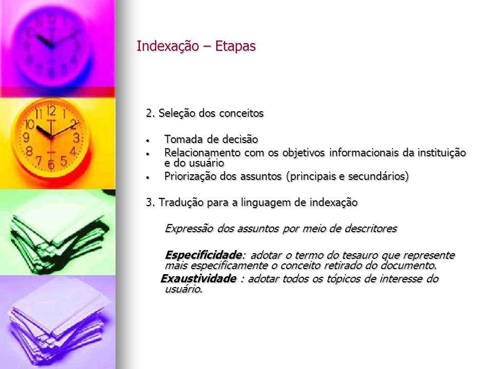 Indexação – Etapas 4.