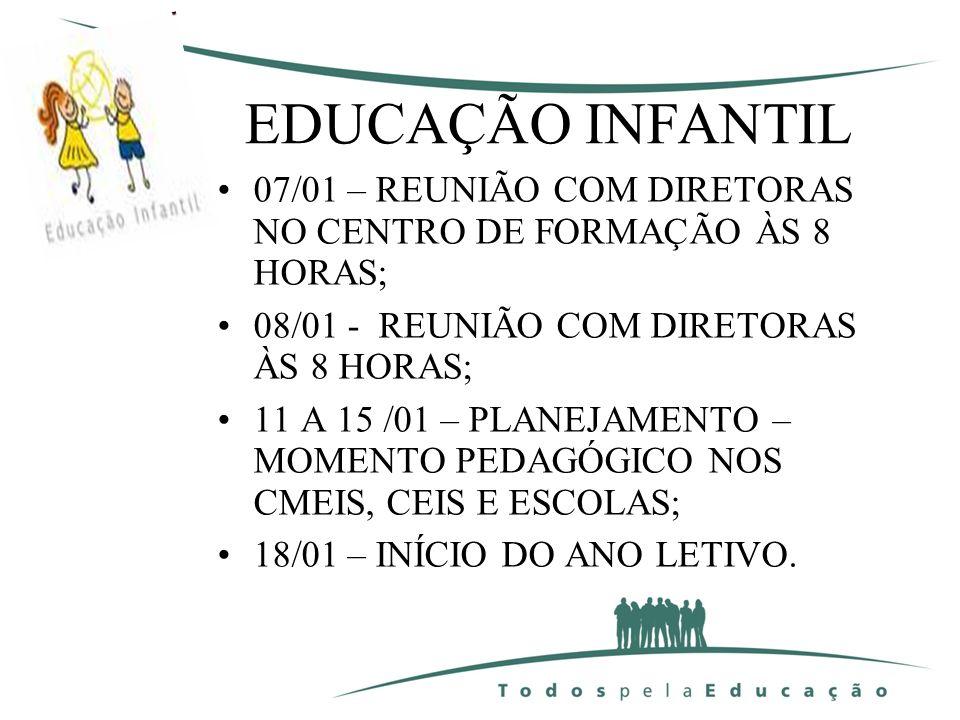 GABINETE DA SECRETÁRIA; DEPARTAMENTO JURÍDICO; EDUCAÇÃO INFANTIL; ENSINO FUNDAMENTAL; ANOS INICIAIS; ANOS FINAIS;