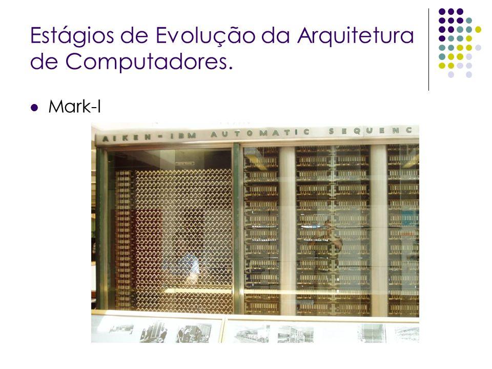 Estágios de Evolução da Arquitetura de Computadores. Mark-I