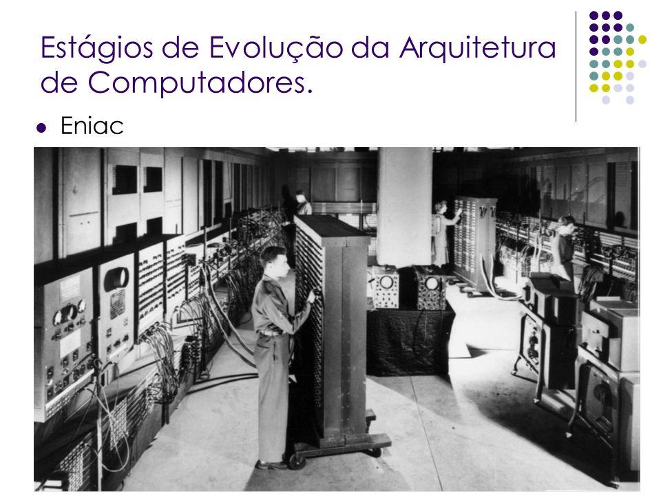 Estágios de Evolução da Arquitetura de Computadores. Eniac