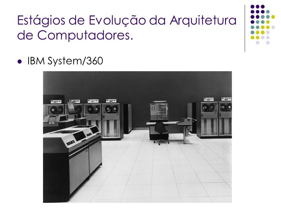 Estágios de Evolução da Arquitetura de Computadores. IBM System/360