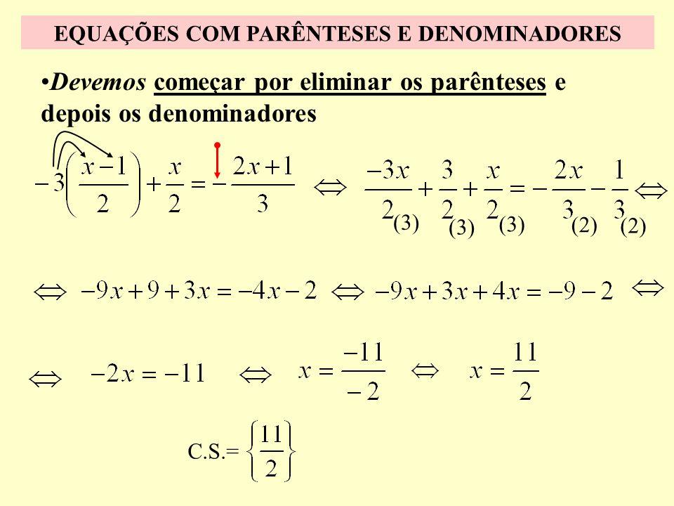 Esta fracção pode ser apresentada da seguinte forma Sinal menos antes de uma fracção O sinal menos que se encontra antes da fracção afecta todos os te