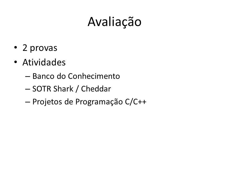 SHaRK Kernel de tempo real – http://shark.sssup.it/ http://shark.sssup.it/ Linguagem de desenvolvimento – C/C++ – Aulas experimentais com aplicativos pré- definidos.