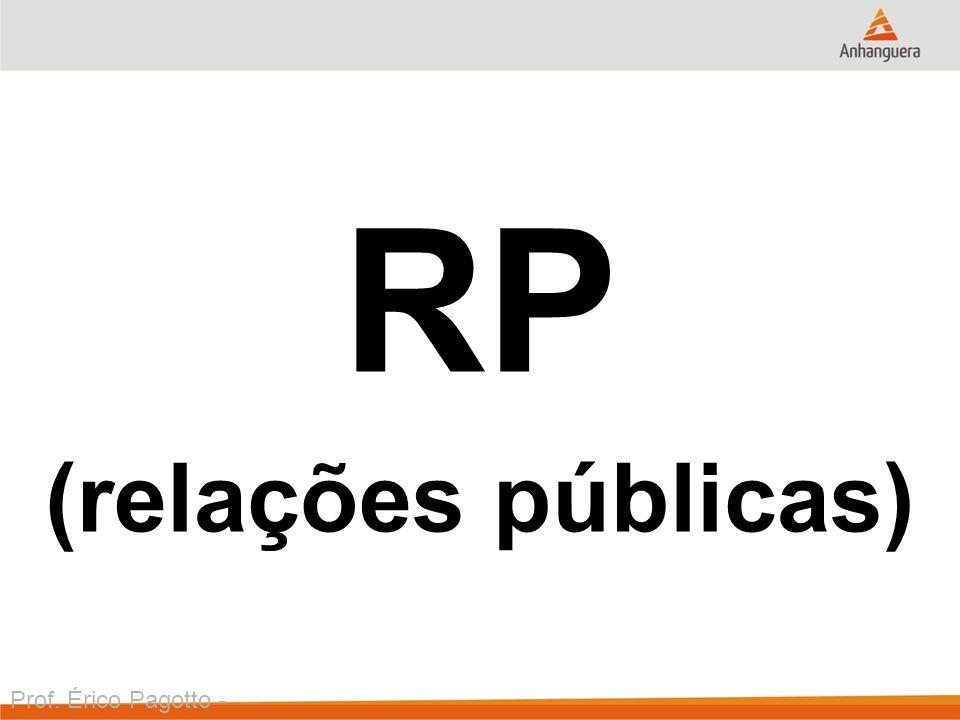 Prof. Érico Pagotto - ericopagotto@yahoo.com RP (relações públicas)