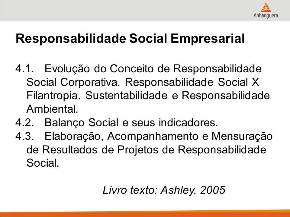 Responsabilidade Social Empresarial 4.1.Evolução do Conceito de Responsabilidade Social Corporativa.