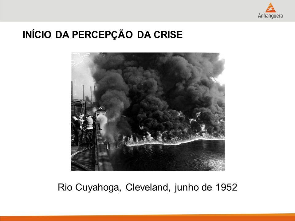 Rio Cuyahoga, Cleveland, junho de 1952 INÍCIO DA PERCEPÇÃO DA CRISE
