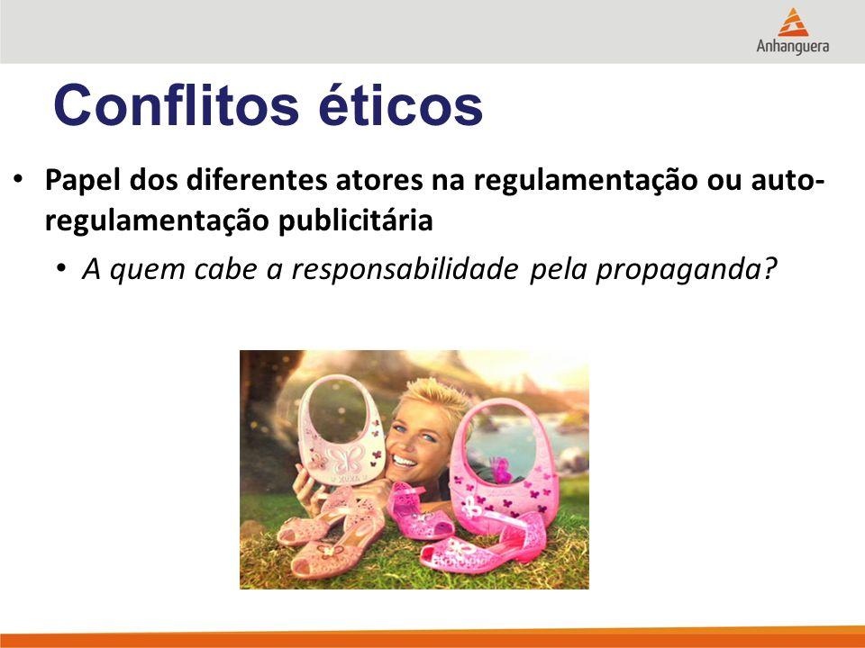 Papel dos diferentes atores na regulamentação ou auto- regulamentação publicitária A quem cabe a responsabilidade pela propaganda.