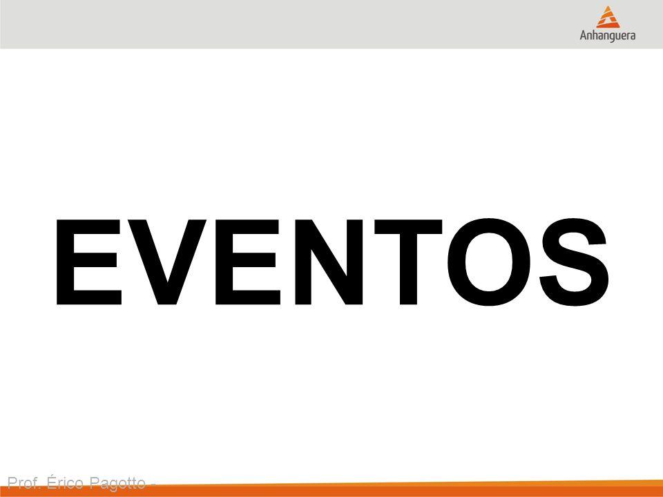 Prof. Érico Pagotto - ericopagotto@yahoo.com EVENTOS