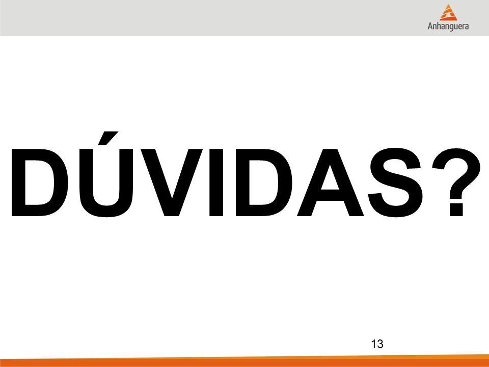 13 DÚVIDAS?