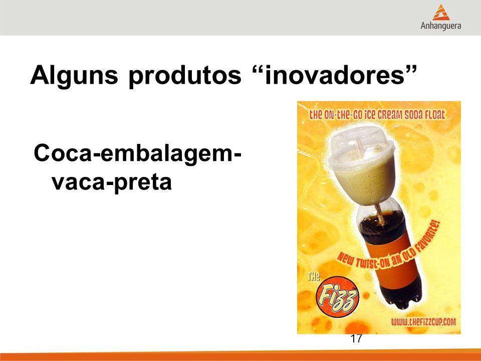 17 Alguns produtos inovadores Coca-embalagem- vaca-preta