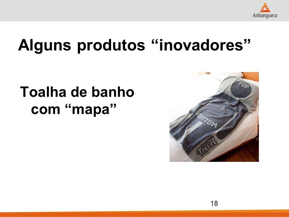 18 Alguns produtos inovadores Toalha de banho com mapa