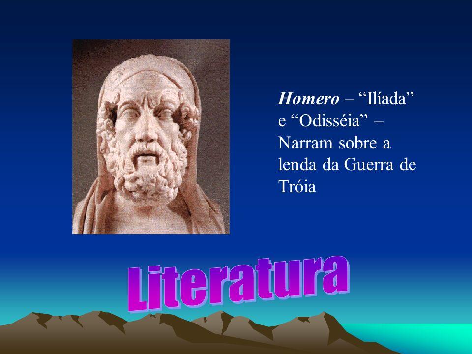 Homero – Ilíada e Odisséia – Narram sobre a lenda da Guerra de Tróia