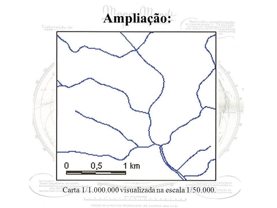 Ampliação: Carta 1/1.000.000 visualizada na escala 1/50.000.