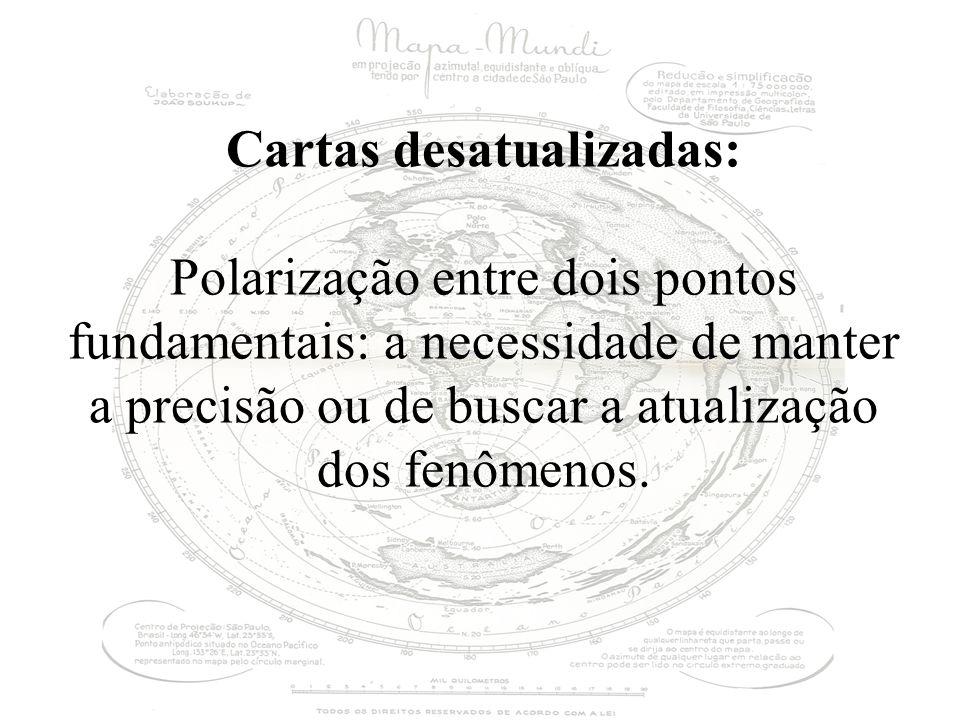 Cartas desatualizadas: Polarização entre dois pontos fundamentais: a necessidade de manter a precisão ou de buscar a atualização dos fenômenos.