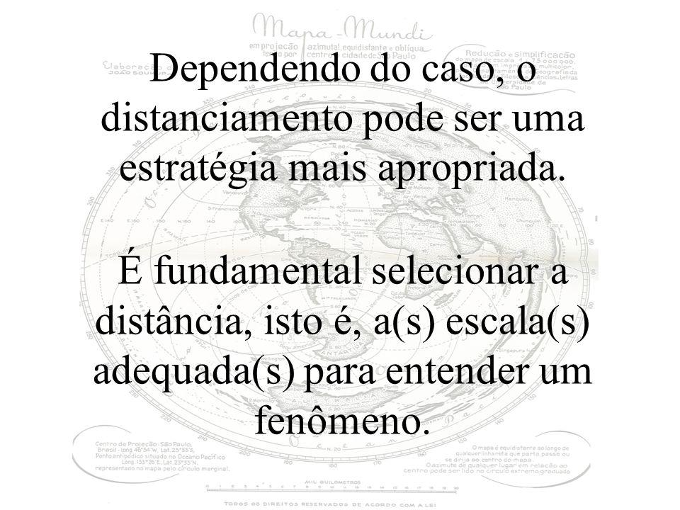 Dependendo do caso, o distanciamento pode ser uma estratégia mais apropriada. É fundamental selecionar a distância, isto é, a(s) escala(s) adequada(s)