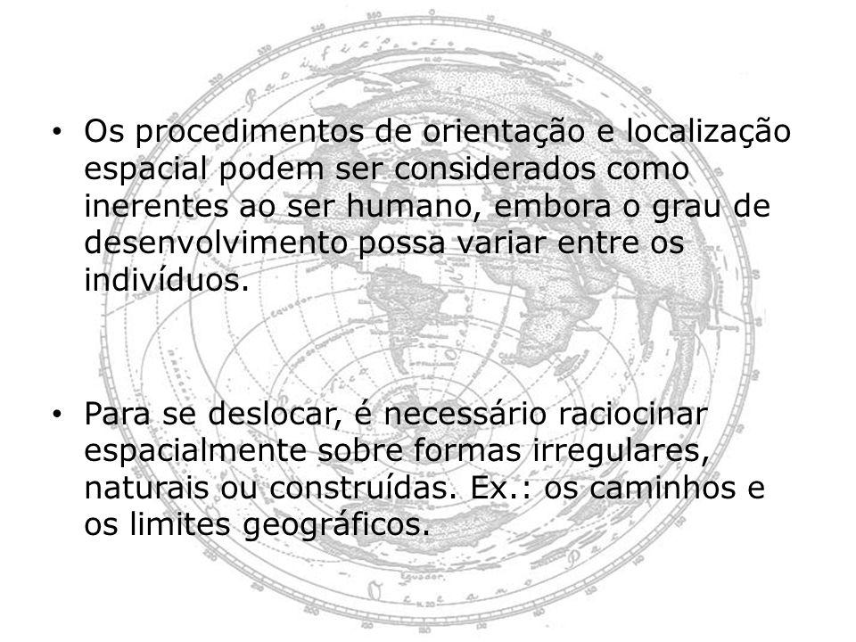 Os procedimentos de orientação e localização espacial podem ser considerados como inerentes ao ser humano, embora o grau de desenvolvimento possa vari