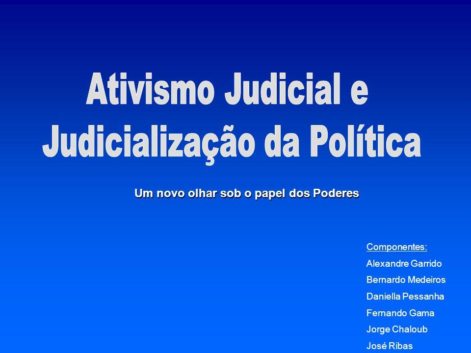 A diferença entre ativismo e judicialização A distinção feita por Tate e Vallinder - As condições políticas - Os valores dos juízes As particularidades brasileiras