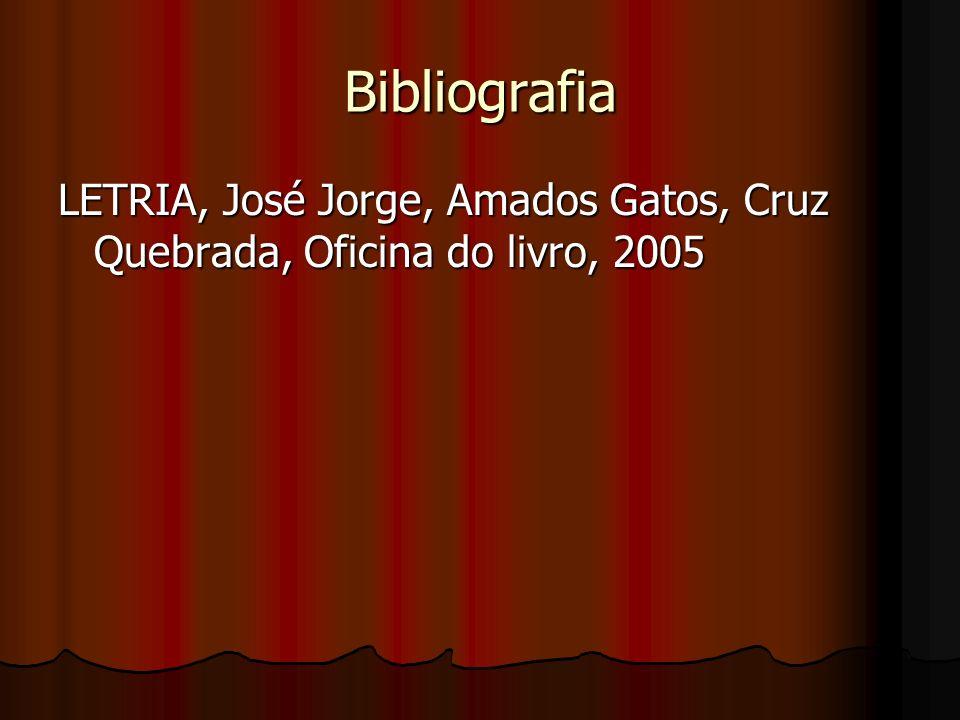 Bibliografia LETRIA, José Jorge, Amados Gatos, Cruz Quebrada, Oficina do livro, 2005