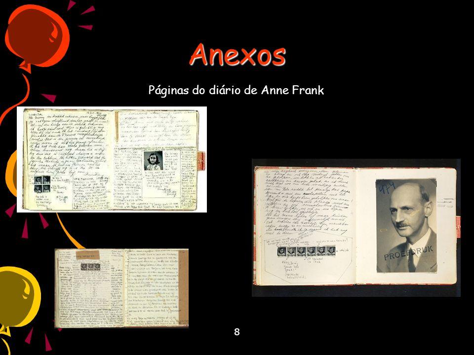 8 Anexos Páginas do diário de Anne Frank