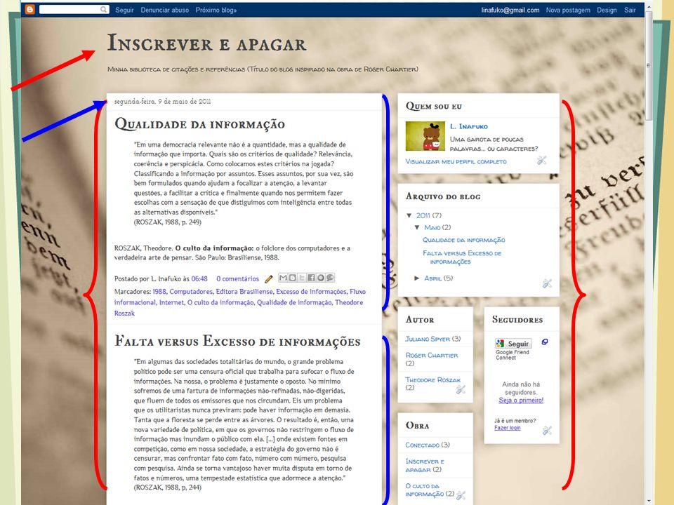 Comentários Cada postagem pode se tornar uma troca de ideias com os comentários dos leitores Se o bem maior de uma empresa é o conjunto de seus funcionários, o de um blog é, certamente, seus leitores.