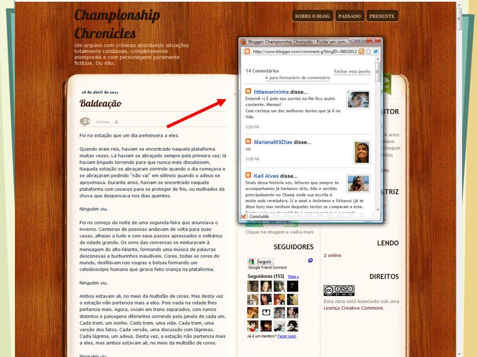 Como usar o blog.