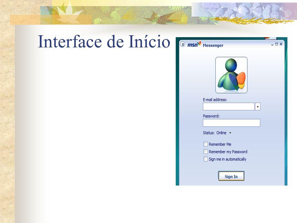 Interface de Início