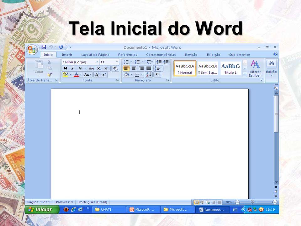 Tela Inicial do Word