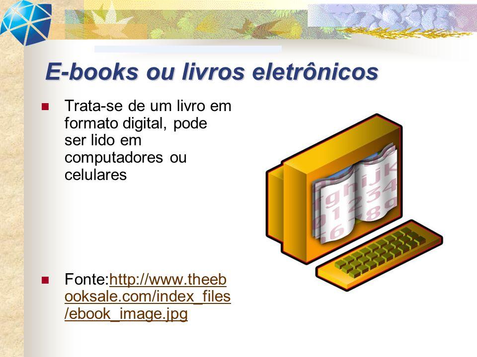 Trata-se de um livro em formato digital, pode ser lido em computadores ou celulares Fonte:http://www.theeb ooksale.com/index_files /ebook_image.jpghtt