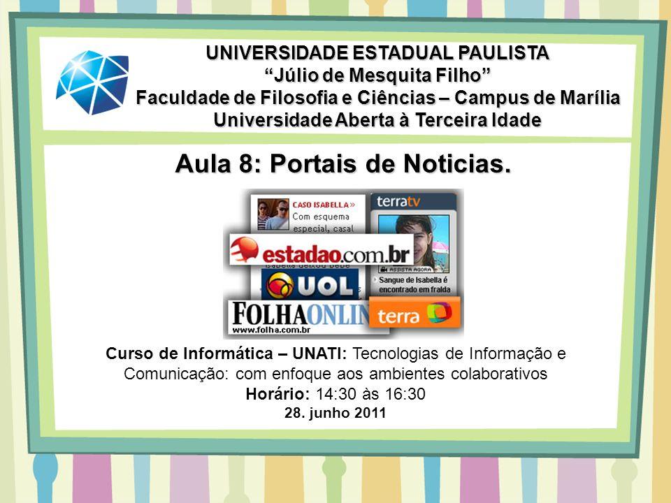 Aula 8: Portais de Noticias.