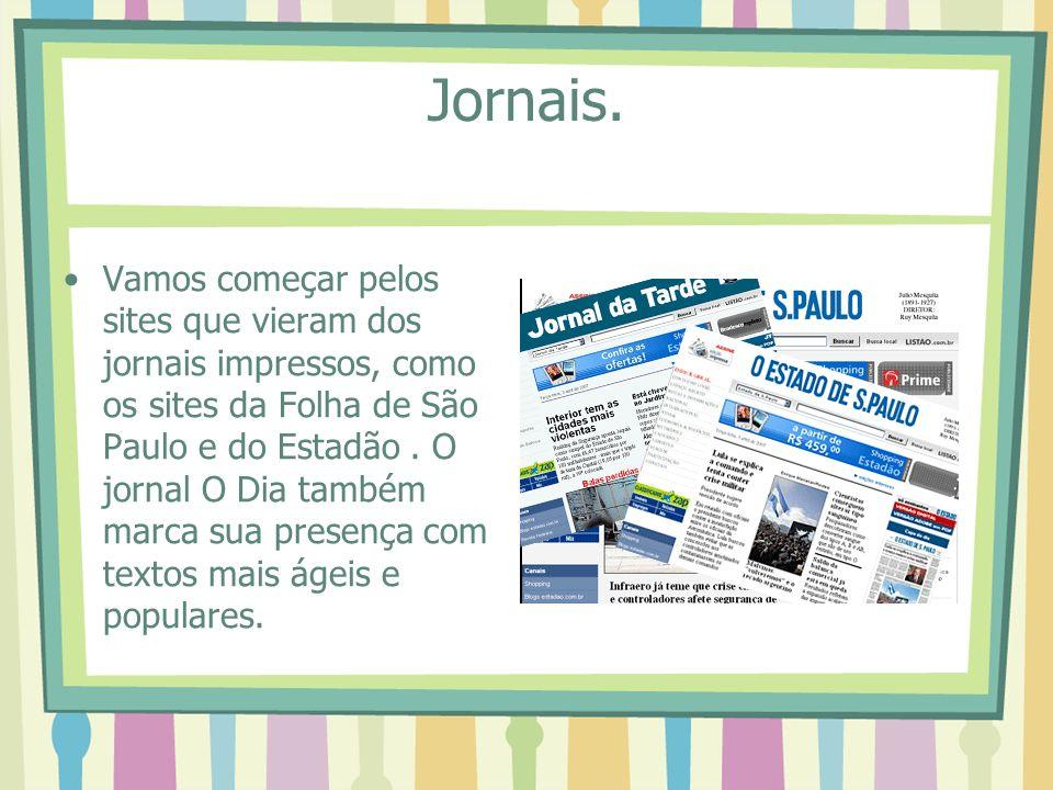 5º Após ler a noticia desça até o fim da página e click na cartinha no item compartilhar.