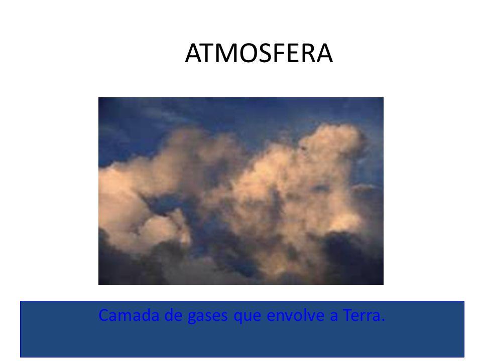 ATMOSFERA Camada de gases que envolve a Terra.