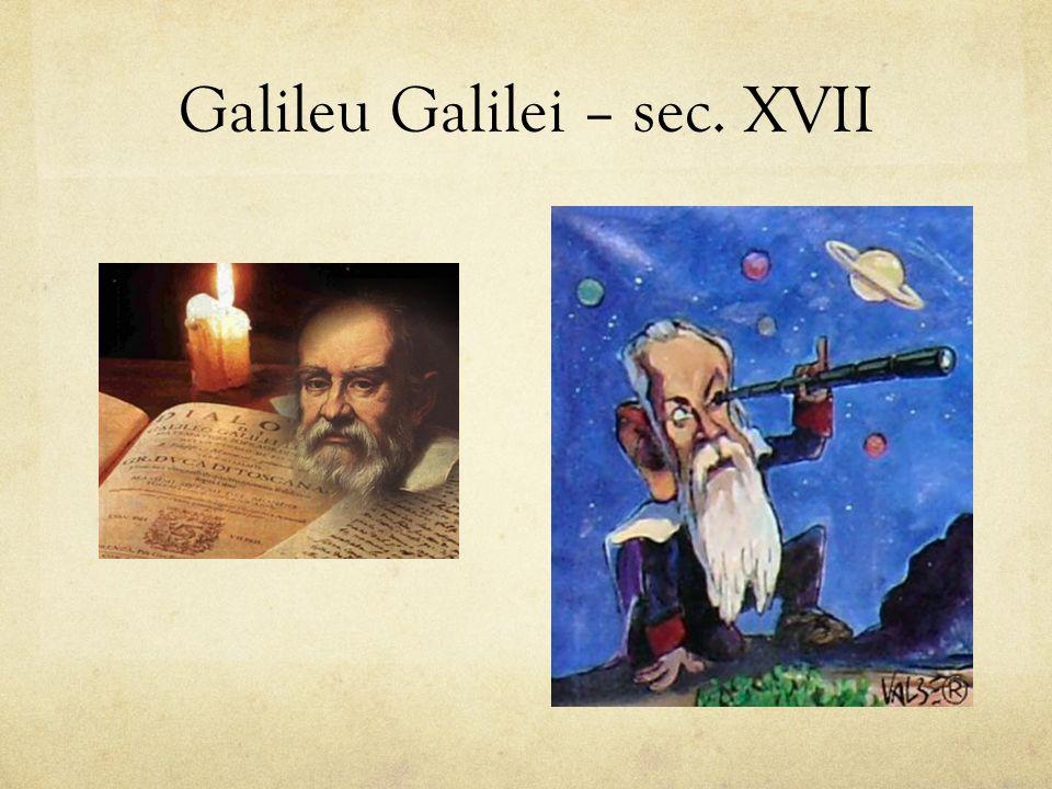 Construiu o primeiro telescópio.Observou a superfície da Lua e os satélites de Júpiter.