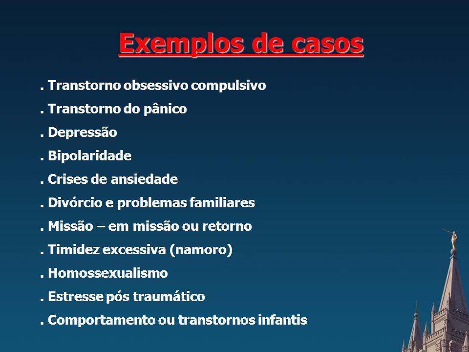Exemplos de casos.Transtorno obsessivo compulsivo.