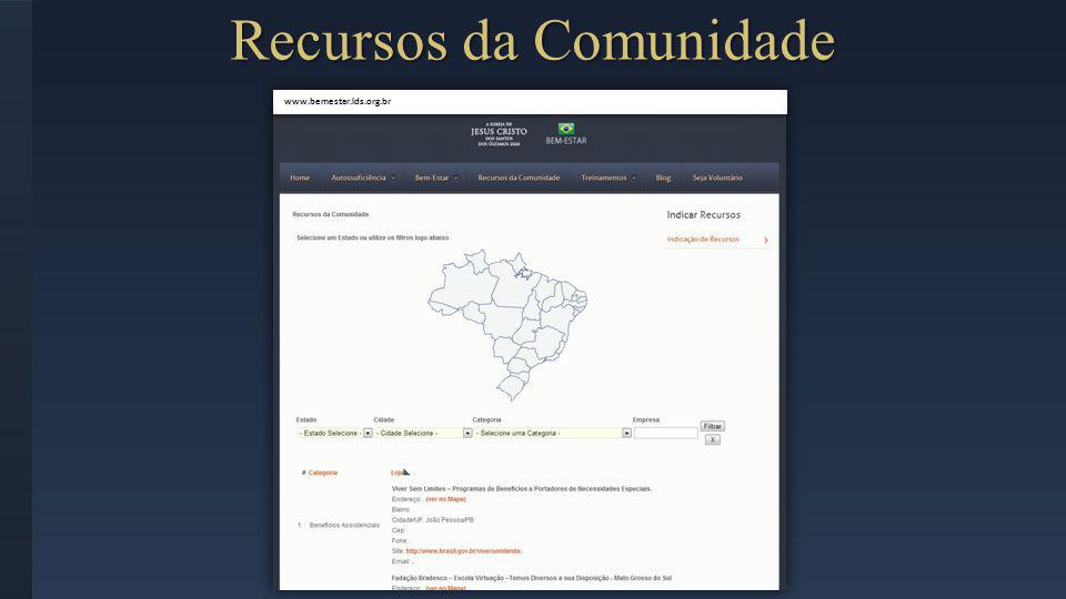 Recursos da Comunidade www.bemestar.lds.org.br